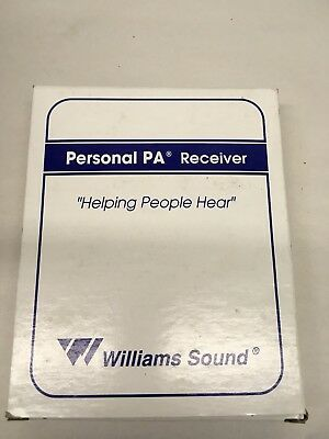 Williams Sound Personal PA FM Receiver Model R7 NEW with earbuds