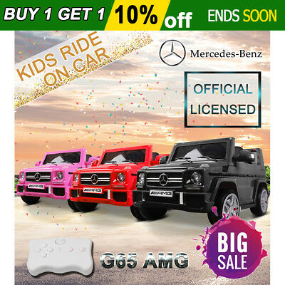 Electric Kids Ride On Car Licensed Mercedes-Benz AMG G65 Children Gift Remote OZ