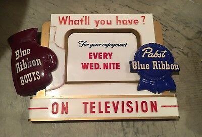 Vintage Pabst Blue Ribbon Beer Boxing Sign