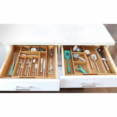Seville Classics 2-piece Expandable Bamboo Drawer Organizer - Free Shipping