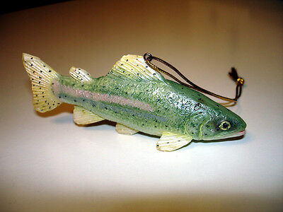Christmas Tree Trout Fish Ornament - Fishing Christmas Trout Ornament
