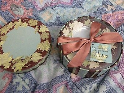 Set of 4 Dessert and Appetizer plates, NIP