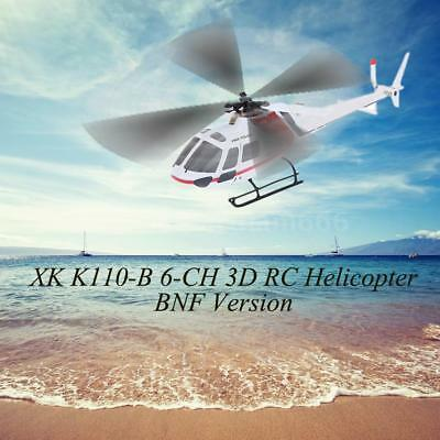 XK AS350 K123-B 6CH 3D 6G System Brushless Motor BNF RC Helicopter Toys E3C1