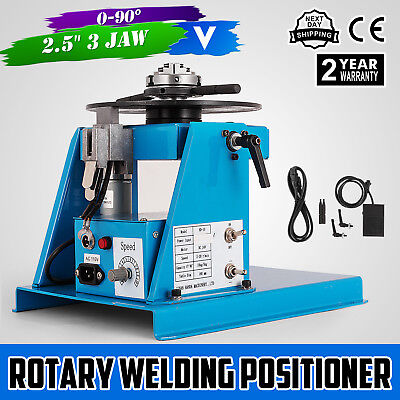 Rotary Welding Positioner Turntable Table Rotation Tilt 2-18RPM 3Jaw Lathe Chuck