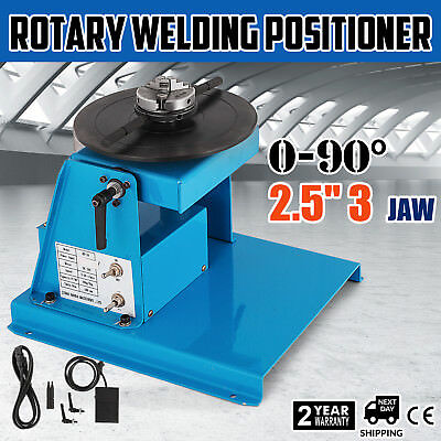 Welding Turntable Positioner 3 Jaw MIG 18mm Table FREE WARRANTY EASY OPERATION