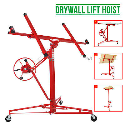 11Ft Lifter Tool Drywall Hoist Caster Heavy Duty Plasterboard Panel Sheet Crane
