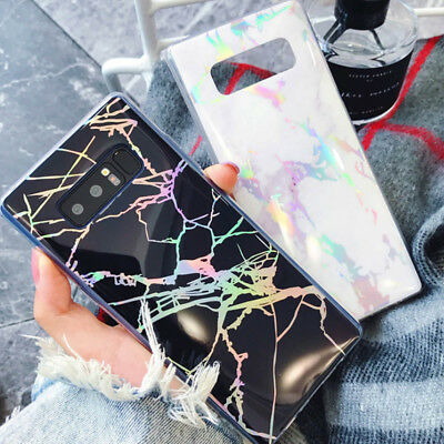 for Samsung Galaxy S9 S8 Plus Note 9 Cute Marble Slim Tpu Shockproof Case Cover