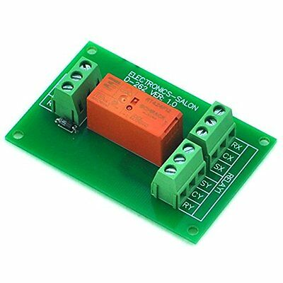 ELECTRONICS-SALON Passive Bistable/Latching DPDT 8 Amp Power Relay Module, 12V