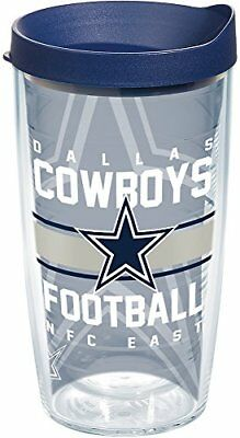 Tervis 1180434 NFL Dallas Cowboys Gridiron Tumbler with Wrap and Navy Lid 16oz,