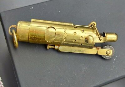 Rare Collectable BROOKSTONE Vintage Trench Lighter.   SOLID BRASS.