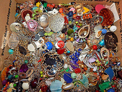 Vintage estate jewelry Harvest Lot wear/resell/repurpose HUGE LOT of Good stuff