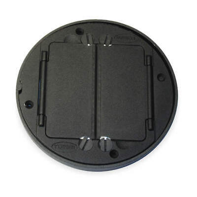 HUBBELL WIRING DEVICE-K Cast Aluminum Floor Box Cover Tile Flange,Black, S1TFCBL