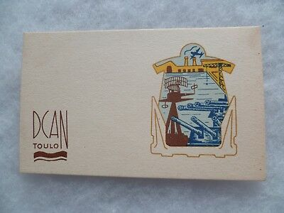 Carte De Voeux Marine Nationale Toulon Dcan Original Collector 1940/1950