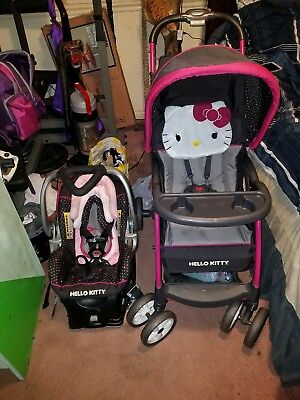 Hello Kitty Baby Trend Stroller And Car Seat Travel System