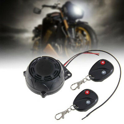 Durable Motorcycle Alarm 2 Remote Controls Anti-theft Security System Waterproof