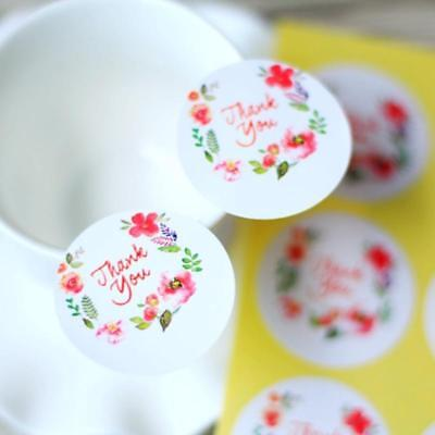 Thank You Floral Planner Diary Scrapbooking Stickers Gift Packaging Label Crafts