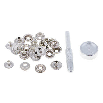 6 ensembles de pression 15mm Snap Fastener Poppers Press Stud avec outil de