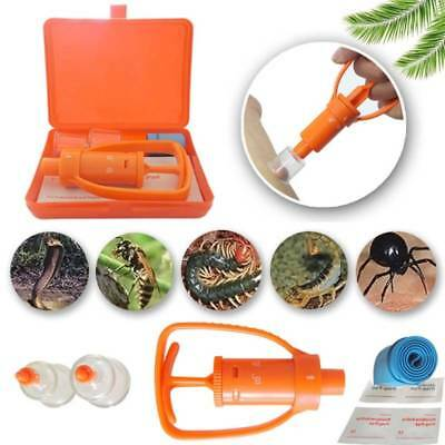Venom Extractor Pump First Aid Safety Kit Emergency Snake Bite Outdoor Camp