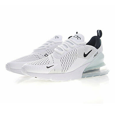Nike Air Max 270 Men's White Running Sport Shoes Shock Absorption Non-slip Size