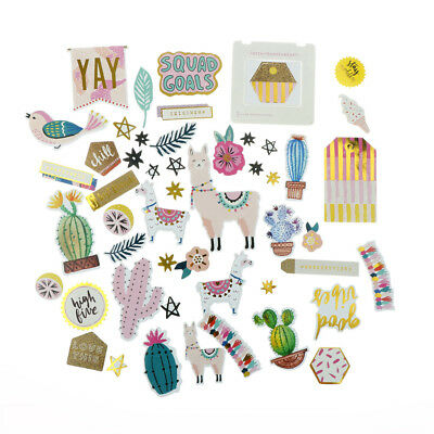 50pcs alpaca cardstock diecut stickers for scrapbooking card making WH