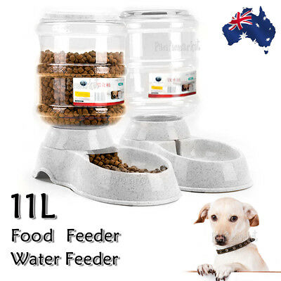 11L Automatic Pet Dog Cat Water Bowl Feeder Bottle Dispenser Plastic Large
