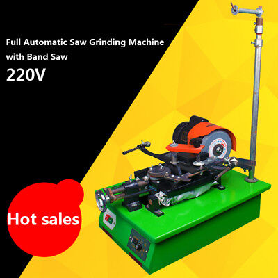 220V Electric Full Automatic Saw Grinding Machine with Band Saw Adjustable Hight