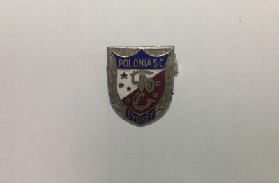 Collectable vintage metal badge - Polonia Soccer Club Sydney - 1970's