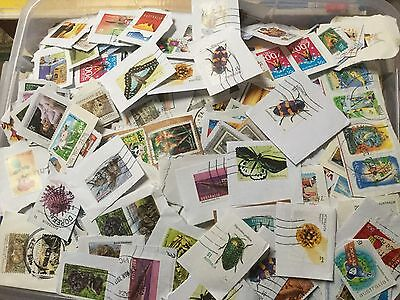 BULK LOT of APPROX 500 AUSTRALIAN DECIMAL STAMPS  TO 2017 ON PAPER