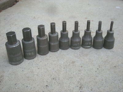 "9 x Vintage 1/2"" Drive GEDORE Hex. Key Sockets, AF - Germany"