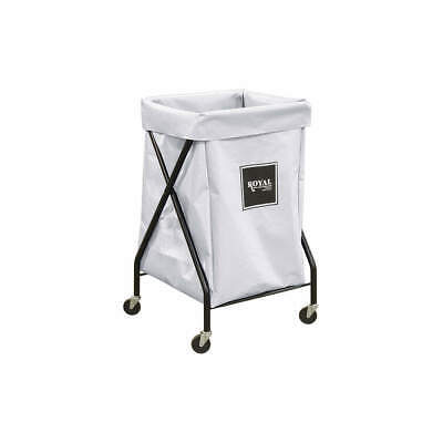 ROYAL BASKET TRUCK X-Frame Cart,6 Bu,White Vinyl, G06-WWX-XFA-3ONN, White