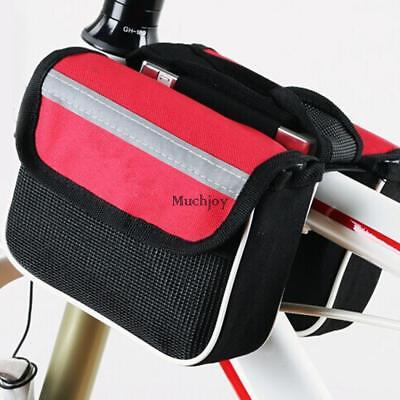 Bicycle Front Frame Bag Cycling Bike Tube Pouch Holder Saddle Panniers MUJY