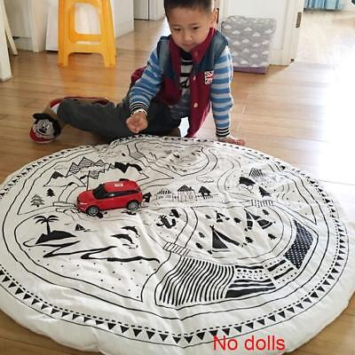 1 PC Children Kids Game Play Mat Baby Crawling Rug Carpet Cotton Blanket BN