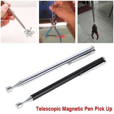 Portable Telescopic Magnet Magnetic Pen Pick Up Rod Stick Handheld Tools New v