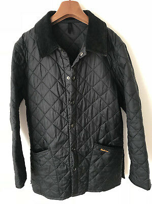 Barbour Liddesdale Quilted Jacket! Mens S/m! Black! Coat! 42-44 Chest! Wax!