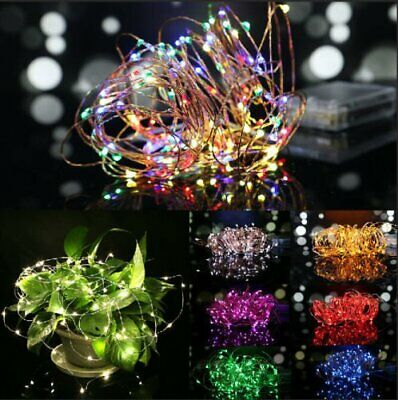 2M/3M/10M Battery Powered LED Starry Fairy String Light Xmas Wedding Party Decor