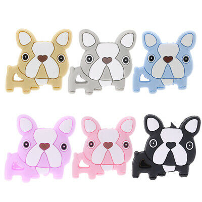 Silicone Beads Dog Cute Funny DIY Jewelry Making Baby Teether Toys Teething