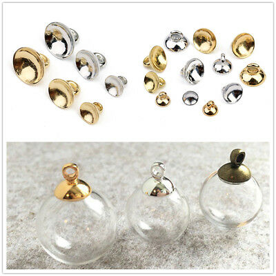 200x Ball Pendant End Cap Craft Bell Shape Jewelry Making Findings 6 8 10MM