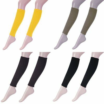 Women Stockings Stocking Leg Warmers Cable Knit Knitted Crochet Socks Legging UU