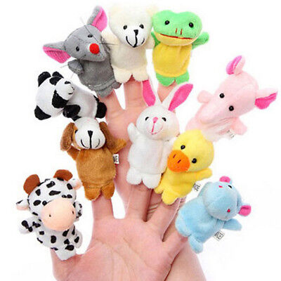 10pcs/Pack Plush Hand Bell BB Puppet Doll Baby Adorable Animal Cotton Kids Toy