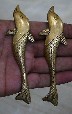 Golden Dolphin Sea Fish Shape Brass Door Handle Window Pull Or Knob Gift BM751
