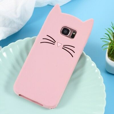 3D Moustache Cat Silicone Protection Case for Samsung Galaxy S7 edge SM-G935
