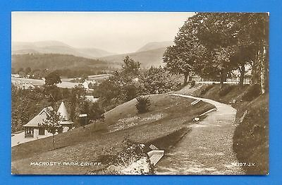 Macrosty Park,crieff.real Photographic Postcard