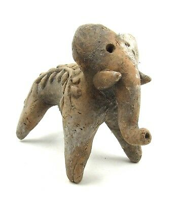 Authentic Ancient Indus Valley Terracotta Elephant Idol Figurine - L992