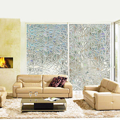 2/5Pz 200x45cm Sabbiata Privacy Glassato Windows Pellicola di vetro rimovibile