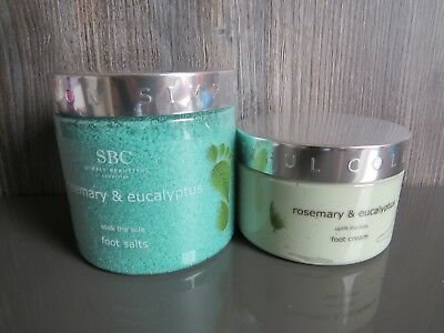 New Set SBC 500g Rosemary & Eucalyptus Foot Salts + Foot cream 250ml