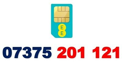 Ee Gold Vip Business Mobile Phone Number Diamond Platinum Simcard 07375 201 121