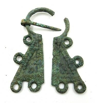 Authentic Medieval Viking Bronze Penannular Omega Brooch For Repair - E906