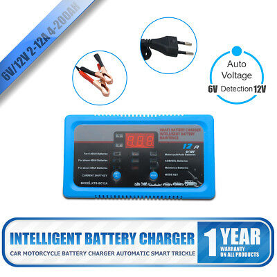 4-200AH  6V/12V Intelligent  Pulse Repair Type  Car Battery Charger 2A 8A 12A