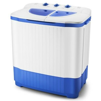 18.7lbs Portable Compact Washing Machine Twin Tub Laundry Mini Washer Spin Dryer