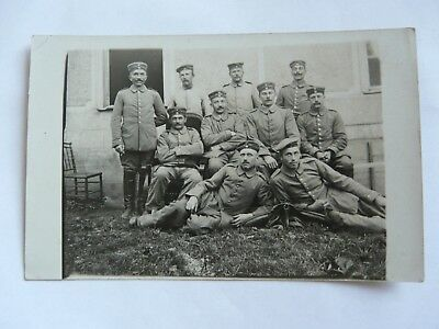 WW1 Group Shot German Soldiers Cavalry Unit